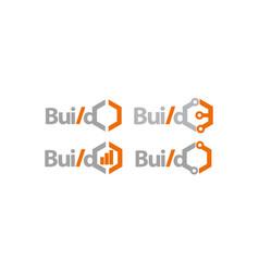 build technology template set vector image