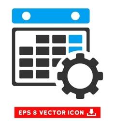 Calendar Configuration Eps Icon vector