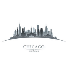 chicago illinois city silhouette white background vector image