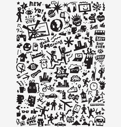 City lifestyle doodles vector