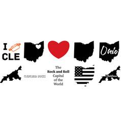Cleveland ohio vector