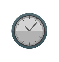 clock with hands and lines time isolated icon vector image