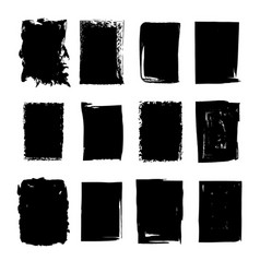 Collection hand drawn rectangle stains vector
