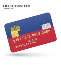 Credit card with liechtenstein flag background vector