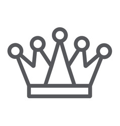 crown line icon royalty and leader royal sign vector image