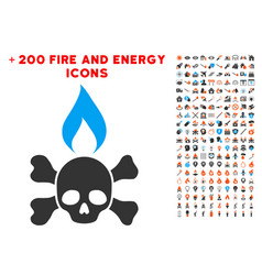 Death ignition icon with bonus power clipart vector