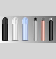 Deodorant or lacquer spray bottles set vector