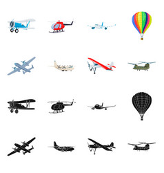 Design of plane and transport logo vector