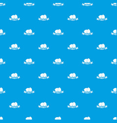 eco food pattern seamless blue vector image