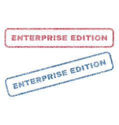 Enterprise edition textile stamps vector