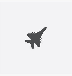 fighter plane icon vector image