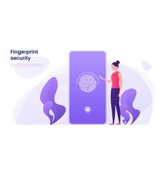 Fingerprint recognition data protection secure vector