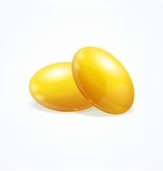 Fish Oil Supplement Capsule vector image