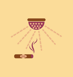 Flat icon on stylish background cigar smoke alarm vector