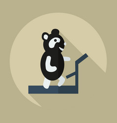 Flat modern design with shadow icons panda athlete vector