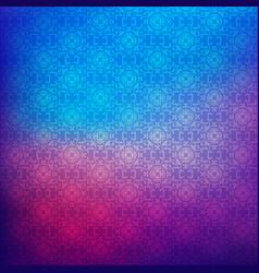 floral pattern on gradient blur background vector image