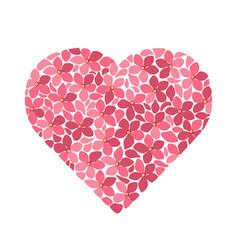 flower shaped heart vector image