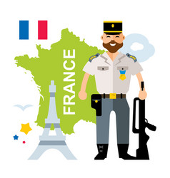 france police flat style colorful cartoon vector image