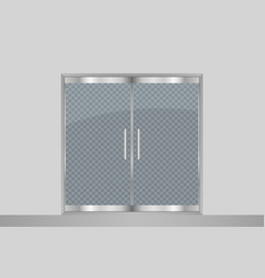 glass door and wall vector image