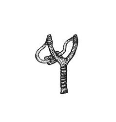 Hand drawn slingshot vector