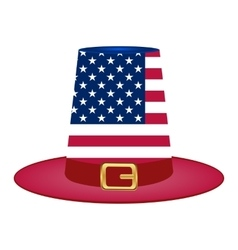 Hat with American flag image vector