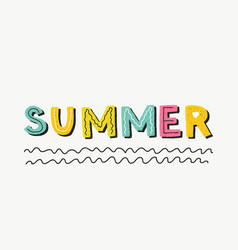 Hello summer poster banner vector
