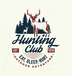 hunting club eat sleep hunt concept vector image