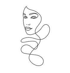 Line drawing a beautiful woman 13 vector