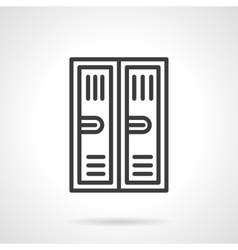 Locker black line icon vector
