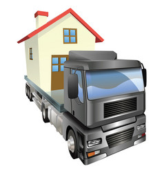 Moving house truck concept vector