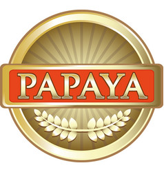 Papaya gold icon vector