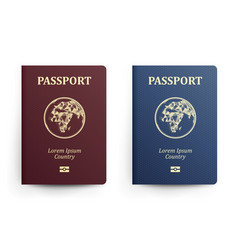 passport with map africa realistic vector image