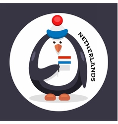 Penguin cheerleader patriot of the country vector