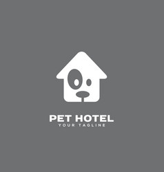 Pet hotel logo vector