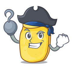 Pirate potato chips character cartoon vector
