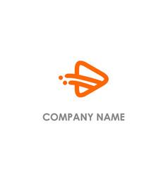 play media logo vector image