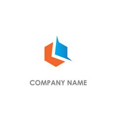 polygon abstract company logo vector image