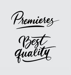 Premieres and best quality handwriting calligraphy vector