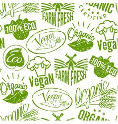 premium quality eco vegan stamp logo product mark vector image