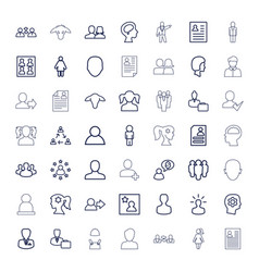 Profile icons vector