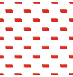 Red cargo container pattern vector