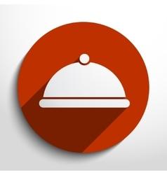 Restaurant cloche web icon vector