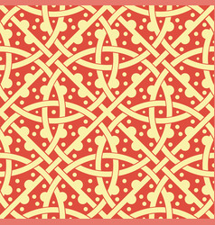 russian seamless decorative pattern slavic vector image