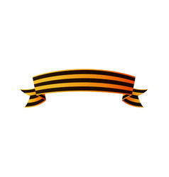 Russian victory day ribbon symmetric horizontal vector
