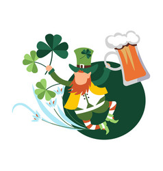 Saint patrick day celebration irish jig dancing vector