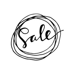 sale hand drawn word vector image