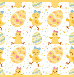 seamless pattern wirh ornate easter eggs vector image