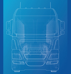 Semi-trailer dump truck sketch eurotrucks vehicle vector