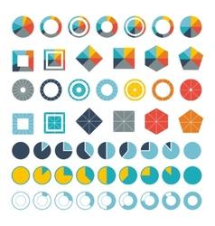 Set infographic diagram elements for design vector