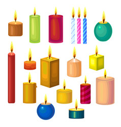 set of different candles vector image